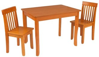 Kid Kraft Avalon II Wooden Table & 2 Chair Children's Set for Playroom, Arts and Crafts - Honey