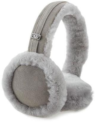 UGG Carry Forward Classic Suede Wired Earmuffs, Seal $75 thestylecure.com