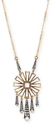 """Lulu Frost Daisy Floral-Pendant Necklace w/ Glass Stones, 28"""" $215 thestylecure.com"""