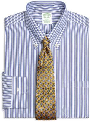 Brooks Brothers Milano Slim-Fit Dress Shirt, Non-Iron Bold Split Stripe