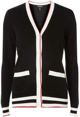 Dorothy Perkins Womens Black Ribbed V-Neck Cardigan