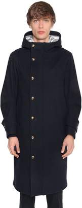 Thom Browne Hooded Melton Wool Coat