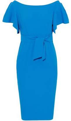 Milly Dakota Tie-Front Cotton-Blend Dress