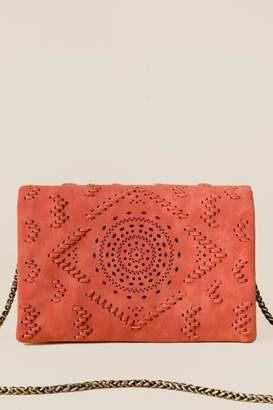 francesca's Waverly Perforated Crossbody - Cinnamon