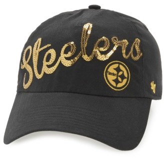 Women's '47 Pittsburgh Steelers Sparkle Cap - Black $25 thestylecure.com