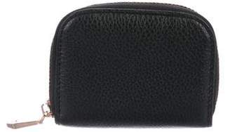 Neiman Marcus Grained Leather Card Holder