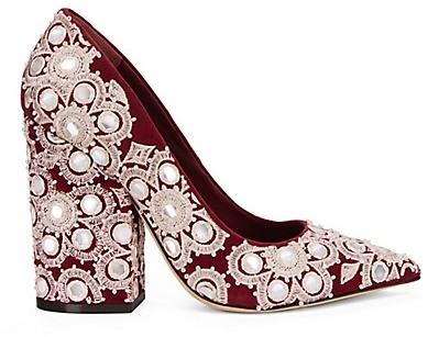 Tory Burch Francesca Embroidered Pump