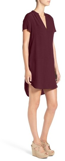 Women's Lush Split Neck Shift Dress 4