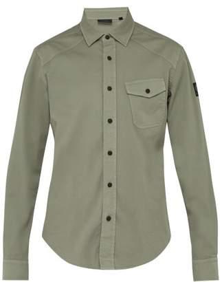 Belstaff Steadway Stretch Cotton Twill Shirt - Mens - Green