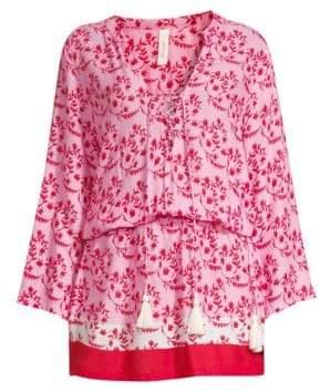 Cool Change coolchange coolchange Women's Chloe Floral Tunic - Hibiscus - Size Large