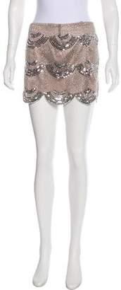 Melissa Odabash Embellished Mini Skirt