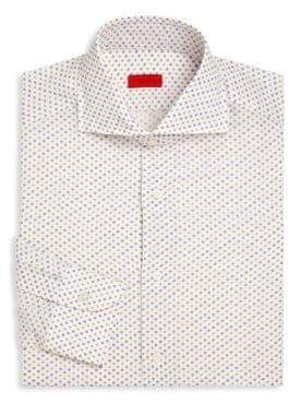 Isaia Floral Regular-Fit Dress Shirt