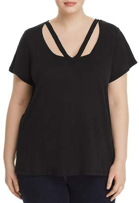 Elan Plus Strap-Neck Burnout Tee