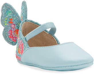 Sophia Webster Chiara Embroidered Butterfly-Wing Flats Baby