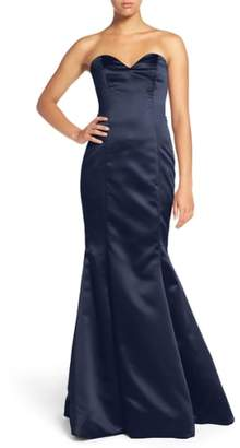 Paige Hayley Occasions Strapless Satin Trumpet Gown