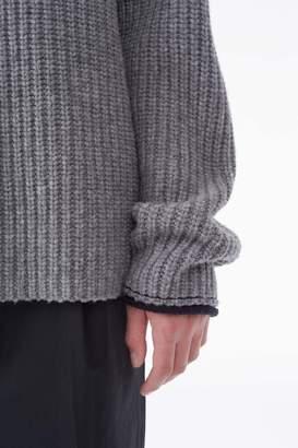 3.1 Phillip Lim Elongated Chunky-Knit Turtleneck Sweater