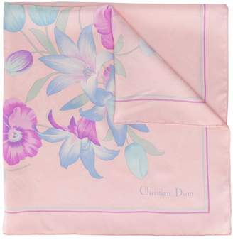 Christian Dior Pre-Owned floral print scarf