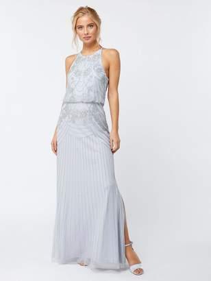 Monsoon Blake Floral Maxi Dress - Blue