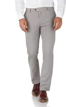 Charles Tyrwhitt Grey Slim Fit Stretch Cotton Chino Pants Size W30 L30