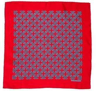 Hermes Printed Silk Pocket Square