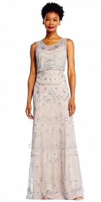 Adrianna Papell Sequin Beaded Blouson Column Evening Dress $249 thestylecure.com