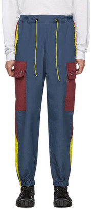 Landlord Navy and Burgundy Gym Teacher Cargo Pants