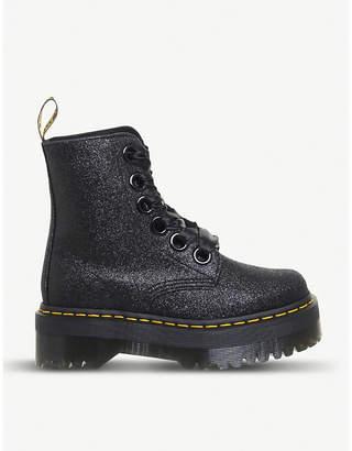 Dr. Martens Molly 8-eye glitter platform boots