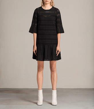 AllSaints Dakota Ruffle Dress