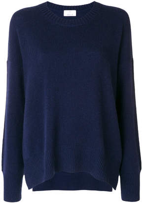 Allude crew neck jumper