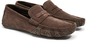 Harry's of London Jet Penny Espresso Suede Driver Shoe