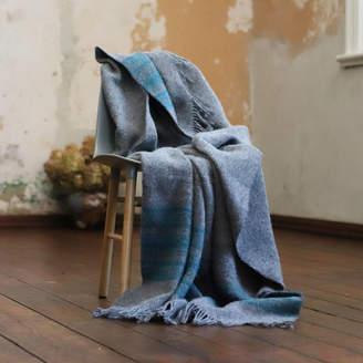 WoolMe Wool Throws Federico Turquoise Grey