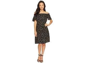 MICHAEL Michael Kors Shooting Star Off Shoulder Dress Women's Dress