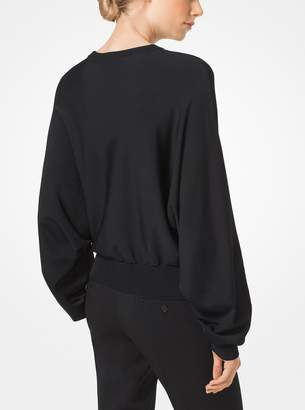 Michael Kors Jersey Draped Pullover