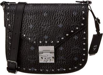 MCM Patricia Small Studded Visetos Shoulder Bag
