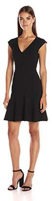 French Connection Women's Whisper Light Stretch Solid Mini Dress, Black, 2