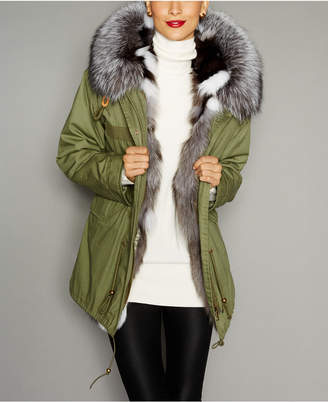 The Fur Vault Hooded Fox-Fur-Lined Parka $1,995 thestylecure.com
