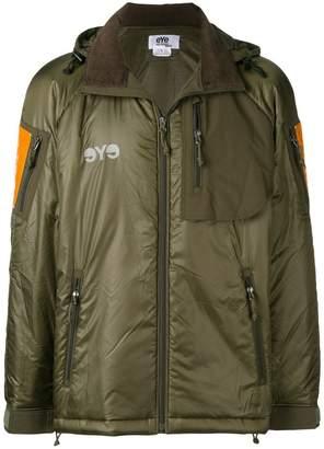 Junya Watanabe reflective panel hooded jacket