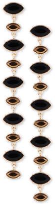 GUESS Gold-Tone Crystal Linear Drop Earrings