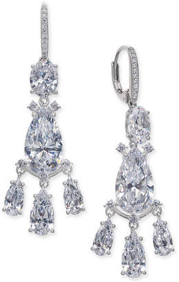 Macy's Danori Silver-Tone Crystal Chandelier Earrings, Created for