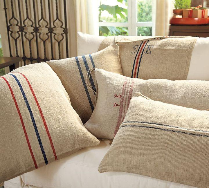 Pottery Barn PB Found Vintage Grain Sack Pillow Cover