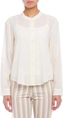 Cacharel (キャシャレル) - cacharel バンドカラー 長袖シャツ ライトイエロー 38