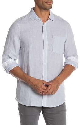 Raffi Solid Linen Long Sleeve Casual Shirt