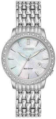 Citizen Women's Eco-Drive Diamond-Accent Bracelet Watch, 29mm - 0.0053 ctw