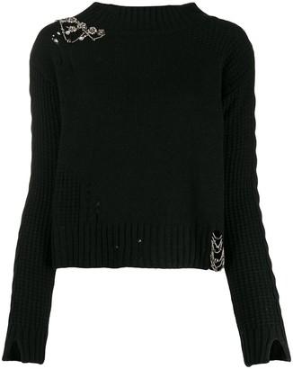 Twin-Set crystal embellished jumper