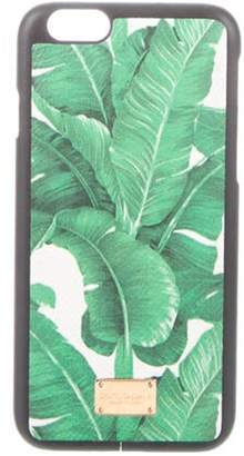 Dolce & Gabbana Leather iPhone 6 Case Green Leather iPhone 6 Case