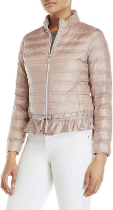 BCBGeneration Packable Quilted Ruffle Jacket