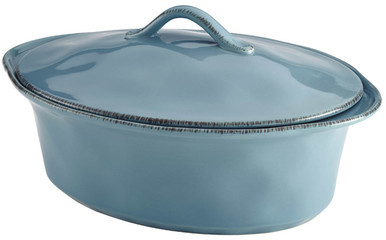 Wayfair Stoneware Casserole Dish in Agave Blue by Rachael Ray