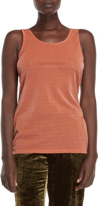 Roberto Collina Burnt Orange Metallic Knit Tank