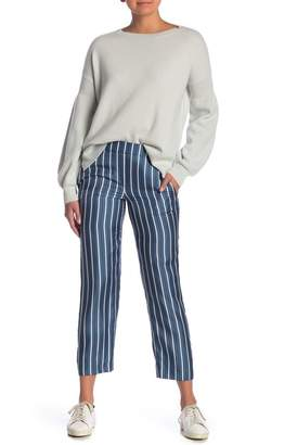 Theory Pull-On Striped Silk Pants