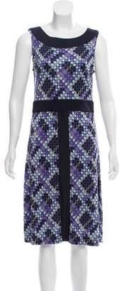 Tory Burch Silk Sleeveless Printed Midi Dress w/ Tags